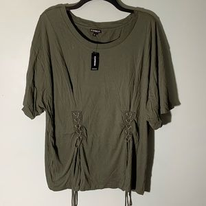NWT Express top green size XL